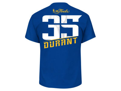 Golden State Warriors Kevin Durant Majestic 2017 NBA Men's Finals Champ Player T-Shirt