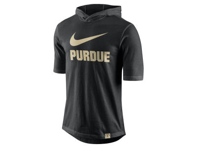 Purdue Boilermakers Nike NCAA Men's Short Sleeve Hooded Shooter Shirt