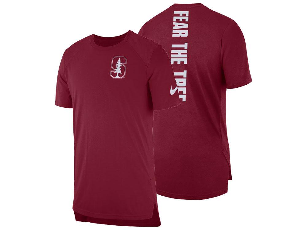 bdcf229c4 Stanford Cardinal Nike NCAA Men s Elite Short Sleeve Shooter Shirt ...