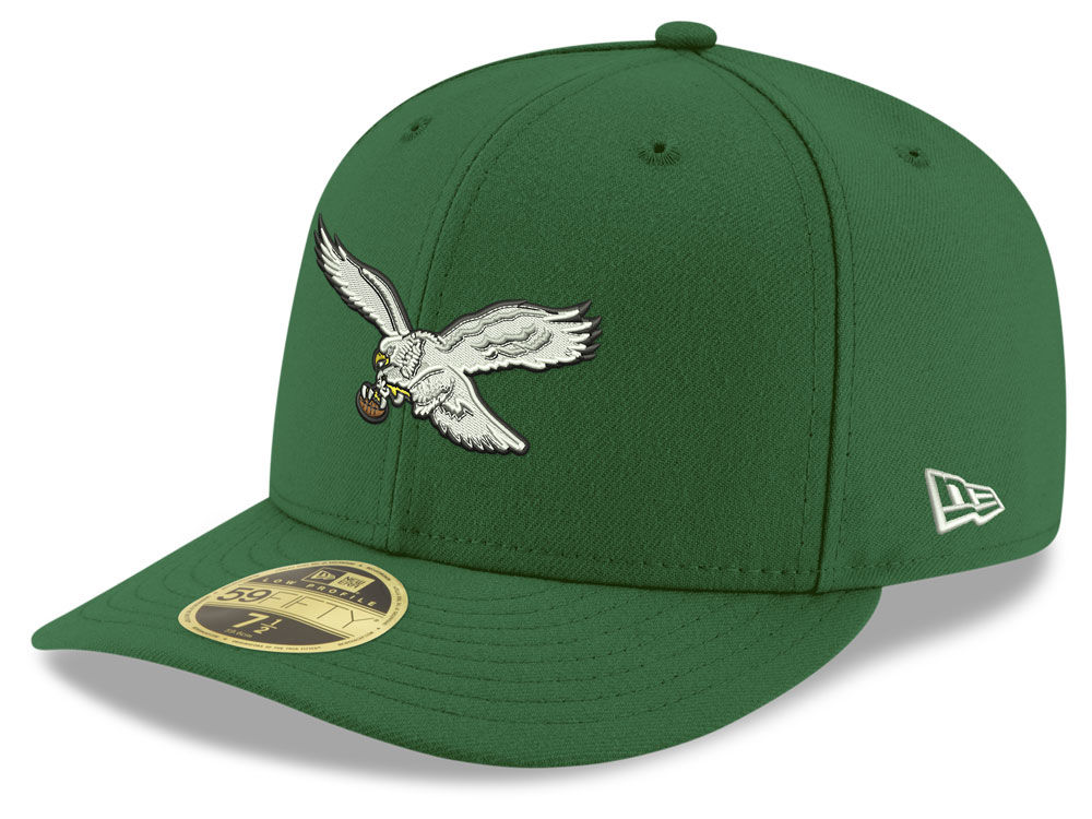 Philadelphia Eagles New Era NFL Team Basic Low Profile 59FIFTY Cap ... bb976598a12