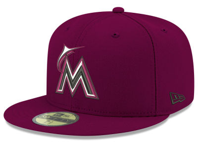 Miami Marlins New Era MLB Reverse C-Dub 59FIFTY Cap