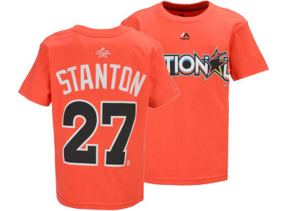 Miami Marlins Giancarlo Stanton Majestic MLB 2017 All Star Game Youth Player T-Shirt