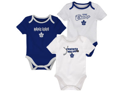 Toronto Maple Leafs Outerstuff NHL Newborn 3rd Down 3pc Creeper Set