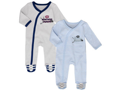 Montreal Canadiens Outerstuff NHL Newborn Sunday Best 2pc Coverall Set