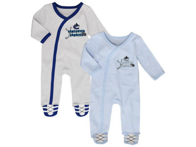 Vancouver Canucks NHL Newborn Sunday Best 2pc Coverall Set
