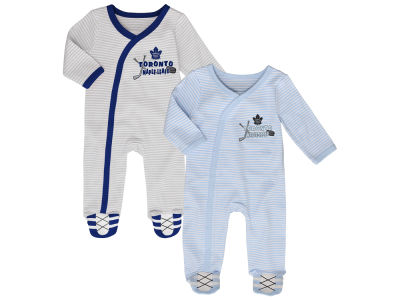 Toronto Maple Leafs NHL Newborn Sunday Best 2pc Coverall Set