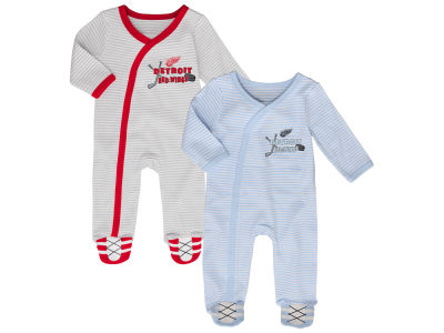 Detroit Red Wings Outerstuff NHL Newborn Sunday Best 2pc Coverall Set