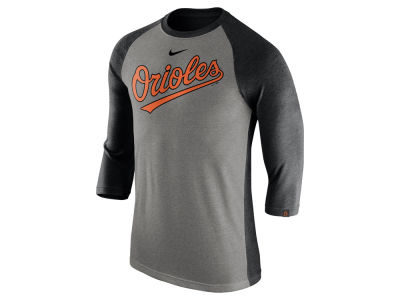 Baltimore Orioles Nike MLB Men's Tri-Blend 3/4 Raglan T-shirt