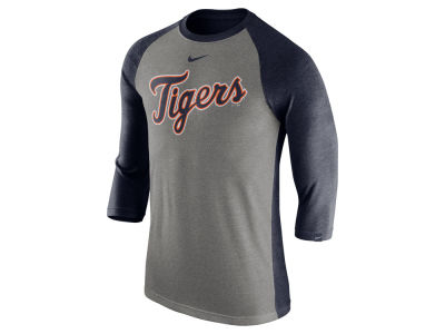 Detroit Tigers Nike MLB Men's Tri-Blend 3/4 Raglan T-shirt
