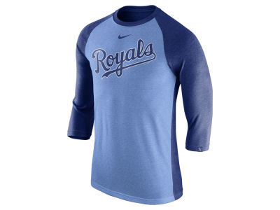 Kansas City Royals Nike MLB Men's Tri-Blend 3/4 Raglan T-shirt