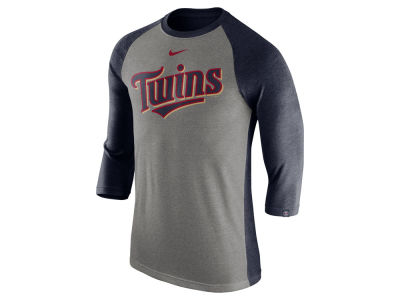 Minnesota Twins MLB Men's Tri-Blend 3/4 Raglan T-shirt