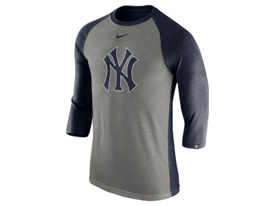 New York Yankees Nike MLB Men's Tri-Blend 3/4 Raglan T-shirt
