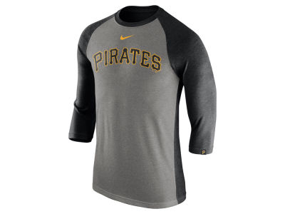 Pittsburgh Pirates Nike MLB Men's Tri-Blend 3/4 Raglan T-shirt