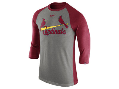 St. Louis Cardinals Nike MLB Men's Tri-Blend 3/4 Raglan T-shirt