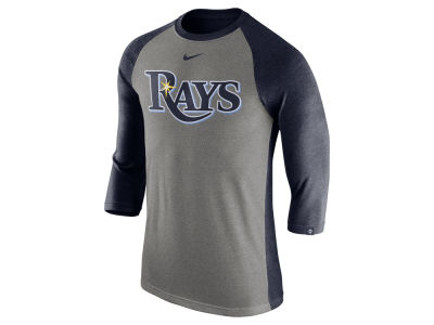 Tampa Bay Rays Nike MLB Men's Tri-Blend 3/4 Raglan T-shirt