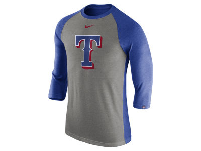 Texas Rangers Nike MLB Men's Tri-Blend 3/4 Raglan T-shirt