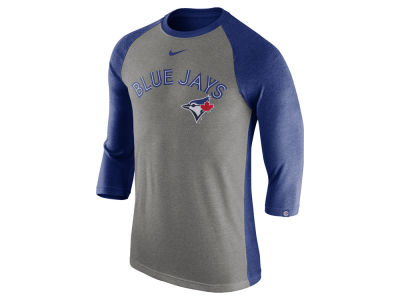 Toronto Blue Jays Nike MLB Men's Tri-Blend 3/4 Raglan T-shirt