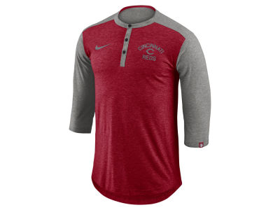 Cincinnati Reds Nike MLB Men's Dry Top Henley T-shirt