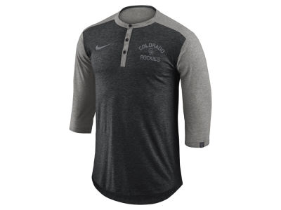 Colorado Rockies MLB Men's Dry Top Henley T-shirt