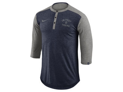 Detroit Tigers Nike MLB Men's Dry Top Henley T-shirt