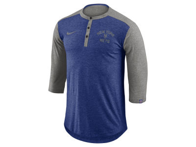 New York Mets MLB Men's Dry Top Henley T-shirt
