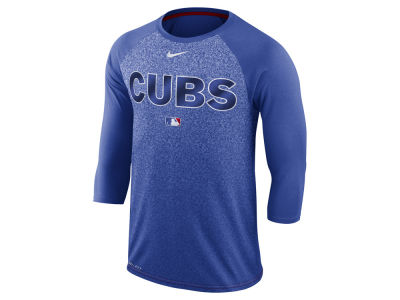 Chicago Cubs Nike MLB Men's Cross-Dye Raglan T-shirt