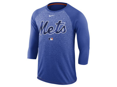New York Mets MLB Men's Cross-Dye Raglan T-shirt