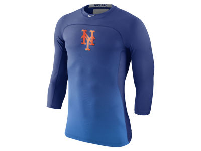 New York Mets Nike MLB Men's Hypercool 3/4 Baselayer T-shirt