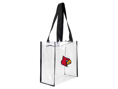 Louisville Cardinals Clear Square Zip Tote