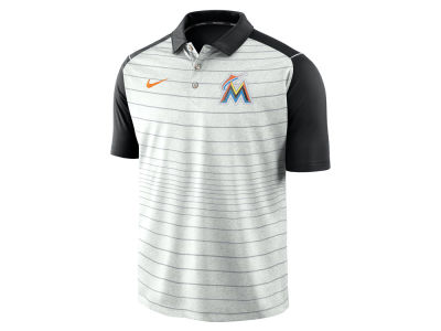 Miami Marlins MLB Men's Stripe Polo