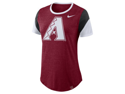 Arizona Diamondbacks Nike MLB Women's Tri-Blend Crew T-Shirt