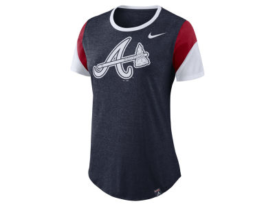 Atlanta Braves Nike MLB Women's Tri-Blend Crew T-Shirt
