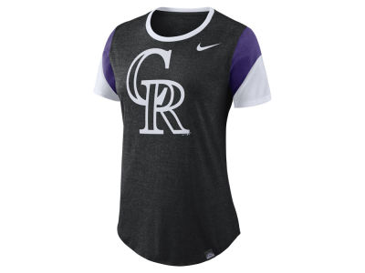 Colorado Rockies Nike MLB Women's Tri-Blend Crew T-Shirt