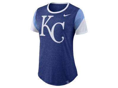Kansas City Royals Nike MLB Women's Tri-Blend Crew T-Shirt