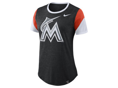 Miami Marlins Nike MLB Women's Tri-Blend Crew T-Shirt