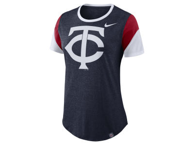 Minnesota Twins Nike MLB Women's Tri-Blend Crew T-Shirt