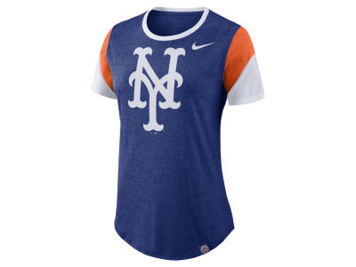 New York Mets Nike MLB Women's Tri-Blend Crew T-Shirt