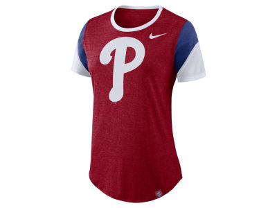 Philadelphia Phillies Nike MLB Women's Tri-Blend Crew T-Shirt
