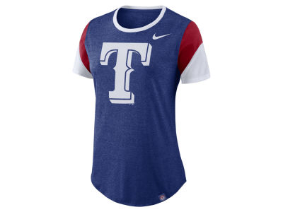 Texas Rangers Nike MLB Women's Tri-Blend Crew T-Shirt