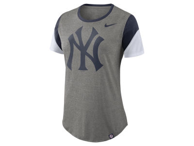 New York Yankees Nike MLB Women's Tri-Blend Crew T-Shirt