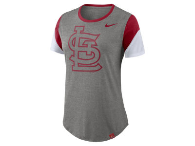 St. Louis Cardinals Nike MLB Women's Tri-Blend Crew T-Shirt