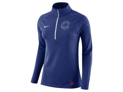 Chicago Cubs Nike MLB Women's Half Zip Element Pullover