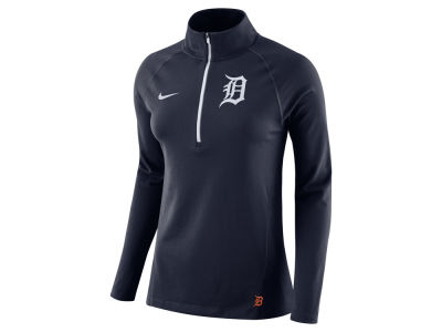 Detroit Tigers Nike MLB Women's Half Zip Element Pullover