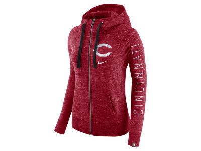 Cincinnati Reds Nike MLB Women's Gym Vintage Full Zip Hooded Sweatshirt