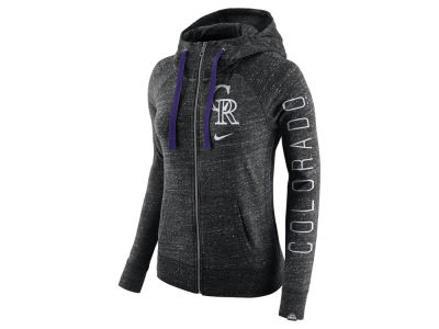 Colorado Rockies Nike MLB Women's Gym Vintage Full Zip Hooded Sweatshirt