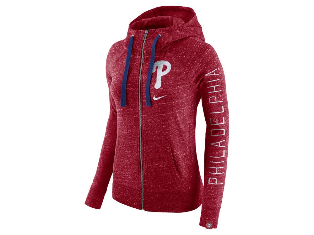 Philadelphia Phillies Nike MLB Women s Gym Vintage Full Zip Hooded  Sweatshirt  4a8f5941b0
