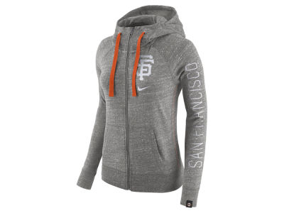 San Francisco Giants Nike MLB Women's Gym Vintage Full Zip Hooded Sweatshirt
