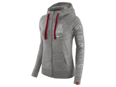 St. Louis Cardinals Nike MLB Women's Gym Vintage Full Zip Hooded Sweatshirt