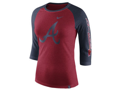 Atlanta Braves Nike MLB Women's Tri-Blend Raglan T-shirt