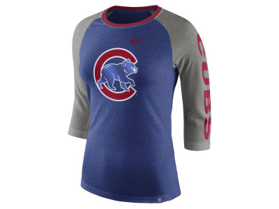 Chicago Cubs Nike MLB Women's Tri-Blend Raglan T-shirt